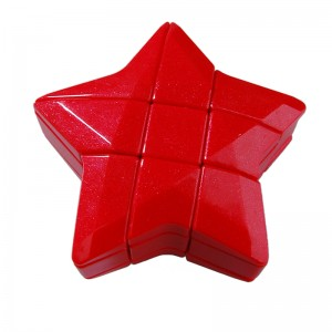 3x3x3 YJ Puzzle Star Magic Cube Puzzle Game IQ Test Toy (Red)