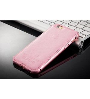 EastVita Luxury PU Leather Aluminum Metal Bumper Frame Skin Case Cover For iPhone 6 6S
